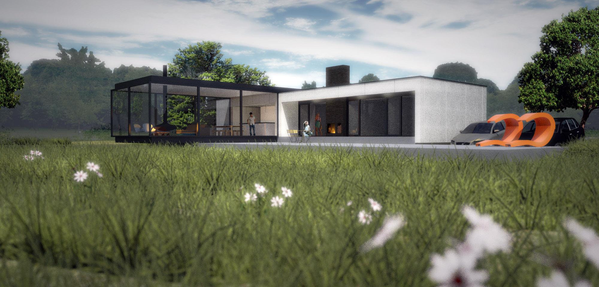 Villa Vechtdal, strakke architectuur in een ruige omgeving